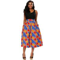 Wholesale Customized Color Long African Print Skirts And Dresses Sash Belt Kitenge Design from china suppliers