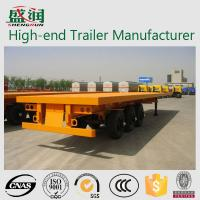 Wholesale Q345 &Q235 Steel 3 axle Container Trailer Chassis , shipping container chassis from china suppliers