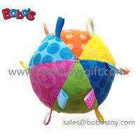 Wholesale Safety Plush Baby Ball Toy Stuffed Infant Ball Toy With Ribbon from china suppliers