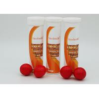 Wholesale Anti Fatigue Effervescent Caffeine Tablets / Orange Effervescent Tablets FDA Certified from china suppliers