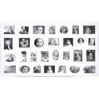 Wholesale hot sale large wood photo frame white photo frame multi photo frame home decoration from china suppliers