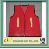 Wholesale Red / Green Road Security Reflective Safety Jacket warning vest Road Maintenance Worker from china suppliers