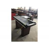 Quality Supermarket Steel Cash Register Fixtures / Retail Coffee Counter Desk for sale