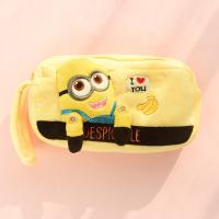 Wholesale Despicable me minion Plush Pencil Case Cartoon Characters in Yellow from china suppliers