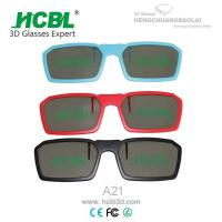 Wholesale ABS Frame Circular Polarized Clip On 3D Glasses For TV / Cinema 13.3* 3.7 mm from china suppliers