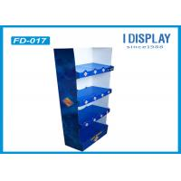 Wholesale Supermarket Custom Floor Display Racks , 4 Tray Cardboard Bakery Display Shelves from china suppliers