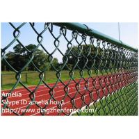 Pvc coated chain link wire fencing and gate diamond mesh