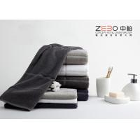 Quality Personalized Pure Cotton Towels Black , White Hotel Towels Eco Friendly for sale
