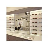 Wholesale Sunglasses Shop Wall Mounted Display Cabinets With Clear Termpered Glass Shelf from china suppliers