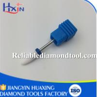 Wholesale Medium Ceramic Nail Drill Bit White Ceramic Burr For Nail Shank Head 2.35mm 6.5mm from china suppliers