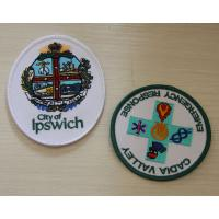 Wholesale Personalized Custom Embroidery Paches Merrow Edges Back Plain Fusing Paper Coated from china suppliers