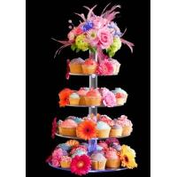 Wholesale 7-Tier Bakery clear acrylic display case , 5mm Cupcake Display Stand Rack from china suppliers