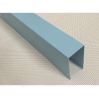 Wholesale Blue Powder Coated Aluminum U- shaped Linear Metal Ceiling Width 50mm Height 100mm from china suppliers