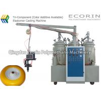 China High efficiency make Solid tyre Tri- Component polyurethane ( color additive available ) elastomer machine