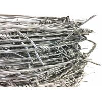 Quality Galvanised Pvc Coated Coil Security Barbed Wire 12 14 Gauge for sale