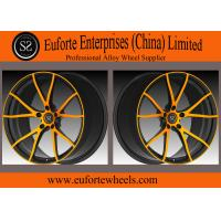 Quality SS wheels - Y Shape 5Spoke 1 Piece Forged Wheels Aluminum Alloy Black With Orange Face for sale