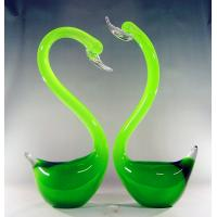 Wholesale Handblown  glass swans,DJ-8012 from china suppliers