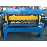 Wholesale Chain Drive Glazed Tile Roll Forming Machine With Manual Decoiler 2-4m/min Productivity from china suppliers