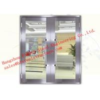 Wholesale Galvanized Steel Fireproof Glass Fire Rated Double Doors For Shopping Mall from china suppliers