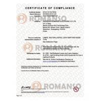 Shenzhen Romanso Electronic Co., Ltd Certifications