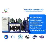 Wholesale R404a Bitzer brand screw type parallel compressor racks for fruit processing from china suppliers