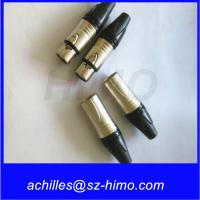 Wholesale push pull self-locking wholesale Neutrik NC3FXX female XLR 3-pin Connector, Nickel Shell, Silver Contacts from china suppliers