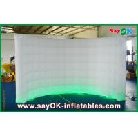 Wholesale 3m Lx2m H White LED Inflatable Wall 210D Oxford Cloth With Light And Blower from china suppliers