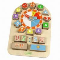 Wholesale Educational Wooden Toy Clock from china suppliers
