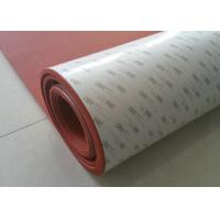 Wholesale High Temperature Resistant Red color  Silicone Sponge Rubber Sheet with Backing 3m Adhesive from china suppliers