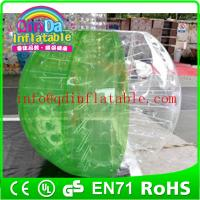 Wholesale QinDa roll inside inflatable ball/soccer bubble/bubble football for sale from china suppliers