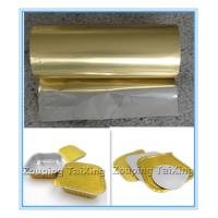 Wholesale golden aluminum foil with pp film  for food container  n lids from china suppliers