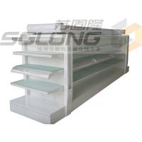 Wholesale Metal Lotion Shelf Single / Double Sided Gondola Shelving Color Optional from china suppliers