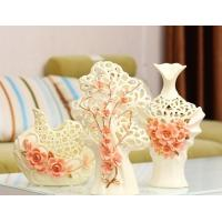 Wholesale A three-piece the colour red rose vase from china suppliers