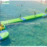 Quality 6 X 2 Meters Inflatable Floating Water Walkway Water Slide Toy For Adults / Kids for sale