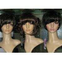 "Wholesale Brown Petite Curly Bang Synthetic Hair Wigs 10"" - 30""Length OEM ODM from china suppliers"