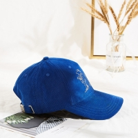 Buy cheap new design customized embroidery logo corduroy adult baseball cap for winter from wholesalers