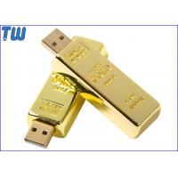 Wholesale Gold Bar 2GB Driver USB Pen Drive Flash Disk Heavy Full Metal from china suppliers