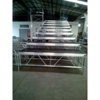 Wholesale Standing Adjustable Aluminum Choir Stage Foldaway For Church Singing from china suppliers