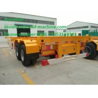 Wholesale 3 Fuwa Axle Yellow Triangle Brand tire Flatbed Container Trailer 40ton Flatbed Semi Trailer with warranty and parts from china suppliers