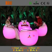 Wholesale Waterproof Glowing LED Bar Chair Stools for Events with 16 colors changeable from china suppliers
