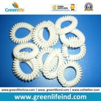 Wholesale Solid White Plastic Coil Wrist Bracelet Safe Holder from china suppliers