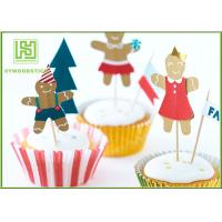 Wholesale Funny Kids Birthday Cake Toppers , Party Food Picks Bowling Cake Decorations from china suppliers