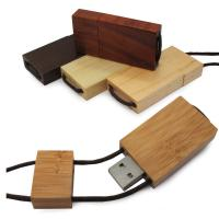 Wholesale Lanyard Bamboo USB Flash Drive 256GB With Logo Printed , USB 3.0 from china suppliers
