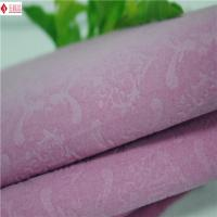 Wholesale Luxury Watch Boxes Printed Velvet Fabric With Soft Plush , Patterned Flock Fabrics from china suppliers