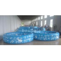 Wholesale Kids Inflatable Water Pool With 0.6mm Commercial Grade PVC Tarpaulin from china suppliers