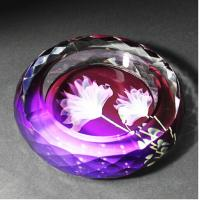 Wholesale Beautiful  Round Shape Crystal Ashtray from china suppliers