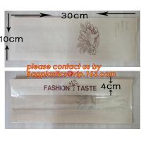 Wholesale OEM High Quality Enviromental Clear Window Bread Toast Paper Bags, Brown Kraft Sharp Bottom Food Safe Snack Paper Bags from china suppliers