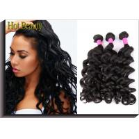 Wholesale Brazilian Unprocessed Human Hair Bundles Big Curl Natural Black Full And Thick from china suppliers