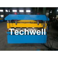 Quality Roof Deck Panel Roll Forming Machine For 0.5 - 1.2mm Material Thickness for sale