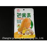 Wholesale Food Grade Dried Fruit Packaging Pouches / Three Side Seal Bags QS Approval from china suppliers